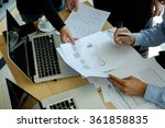 business team discussing their... | Shutterstock . vector #361858835
