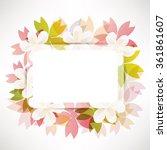 cherry blossom flowers... | Shutterstock .eps vector #361861607