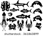 monochrome set of silhouettes... | Shutterstock . vector #361863899