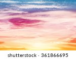 sun and cloud background with a ... | Shutterstock . vector #361866695