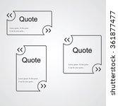 quote empty black template.... | Shutterstock .eps vector #361877477