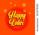 happy lohri | Shutterstock .eps vector #361878281