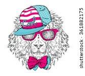 hipster. poster . print .... | Shutterstock .eps vector #361882175