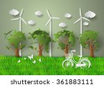 concept of eco friendly and... | Shutterstock .eps vector #361883111