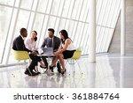 group business meeting in... | Shutterstock . vector #361884764