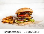 home made hamburger with... | Shutterstock . vector #361890311