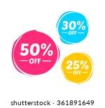 50   30    25  off marks | Shutterstock .eps vector #361891649