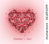 valentines day heart made of... | Shutterstock . vector #361892099