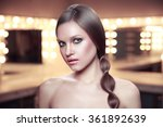 beauty portrait of girl with... | Shutterstock . vector #361892639