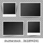 collection of vector blank... | Shutterstock .eps vector #361894241