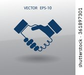 flat  icon of heandshake | Shutterstock .eps vector #361897301