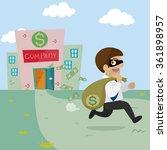 cartoon bandit businessman... | Shutterstock .eps vector #361898957