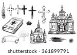 Hand Drawn Religion Set In...