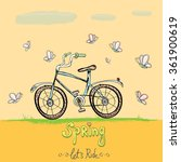 hello spring   let's ride... | Shutterstock .eps vector #361900619