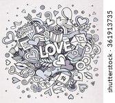 cartoon vector hand drawn... | Shutterstock .eps vector #361913735