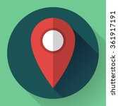 map pointer flat icon  vector...