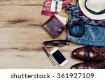clothing for mens   tone vintage | Shutterstock . vector #361927109
