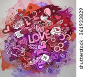 cartoon vector hand drawn... | Shutterstock .eps vector #361933829