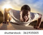 picture of a young athletic man ... | Shutterstock . vector #361935005