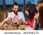 friends eating and tasting food ... | Shutterstock . vector #361936175