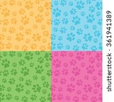 Paw Prints Background 4 Color