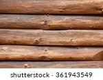 the outside wall of a rustic... | Shutterstock . vector #361943549