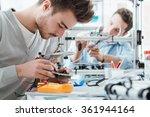 engineering students working in ... | Shutterstock . vector #361944164