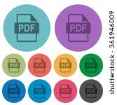 color pdf file format flat icon ...