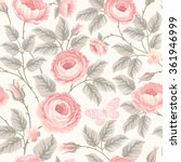 seamless floral pattern with... | Shutterstock .eps vector #361946999