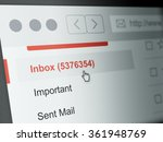 Stock photo computer monitor screen concept of inbox email 361948769
