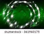 abstract fractal green... | Shutterstock . vector #361960175