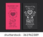 vector valentine's day party... | Shutterstock .eps vector #361962389