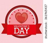 happy valentines day design    Shutterstock .eps vector #361965437