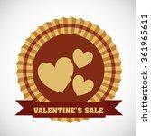 valentines day sale design  | Shutterstock .eps vector #361965611