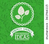 energy saving design  | Shutterstock .eps vector #361966115
