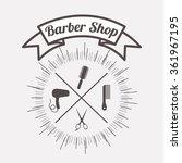 barber shop design  | Shutterstock .eps vector #361967195