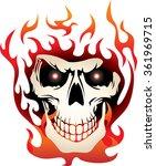 flaming skull | Shutterstock .eps vector #361969715