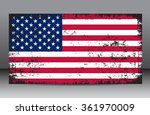 grunge usa flag.american flag... | Shutterstock .eps vector #361970009