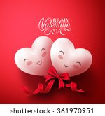 sweet smiling hearts of happy... | Shutterstock .eps vector #361970951