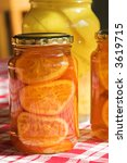 Preserved Fruit In A Glass Jar. ...