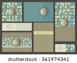 invitation card with abstract... | Shutterstock .eps vector #361974341