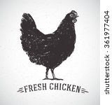 graphical silhouette chicken... | Shutterstock .eps vector #361977404