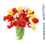 Beautiful Tulips Flowers Bunch...