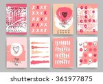 hand drawn hearts. valentines... | Shutterstock .eps vector #361977875