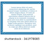 blue border frame deco vector... | Shutterstock .eps vector #361978085
