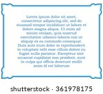 blue border frame deco vector... | Shutterstock .eps vector #361978175