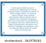 blue border frame deco vector... | Shutterstock .eps vector #361978181