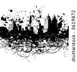 city paint splatter | Shutterstock . vector #3619872