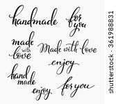handmade lettering set.... | Shutterstock .eps vector #361988831