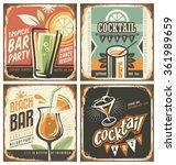 Cocktail Bar Retro Tin Sign Se...